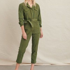 Alex Mill Expedition Jumpsuit Washed Twill Olive S